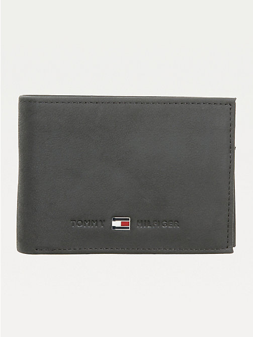 TOMMY HILFIGER Johnson Small Leather Wallet - BLACK - TOMMY HILFIGER Men - main image
