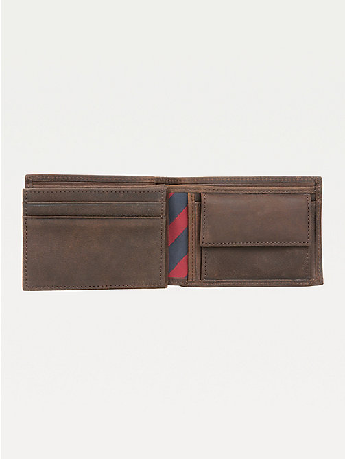 TOMMY HILFIGER Small Leather Wallet - BROWN - TOMMY HILFIGER Wallets & Keyrings - detail image 1
