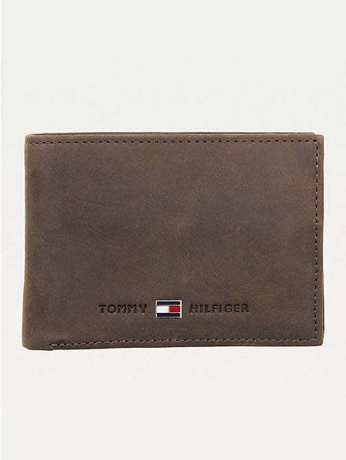 TOMMY HILFIGER Small Leather Wallet - BROWN - TOMMY HILFIGER Wallets & Keyrings - main image
