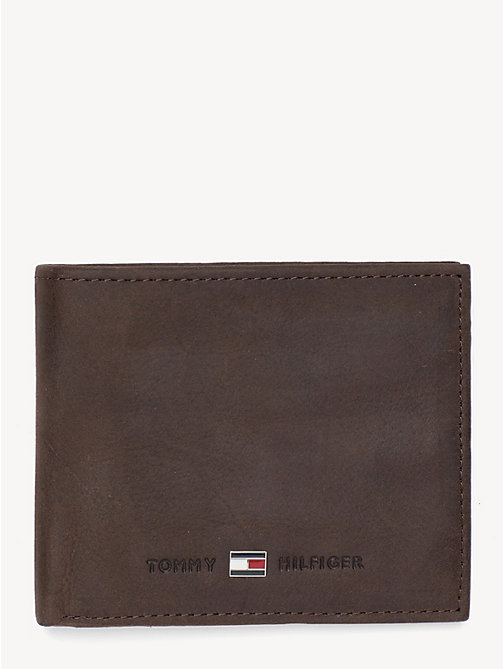 TOMMY HILFIGER Small Bifold Card Wallet - BROWN - TOMMY HILFIGER Wallets & Keyrings - main image