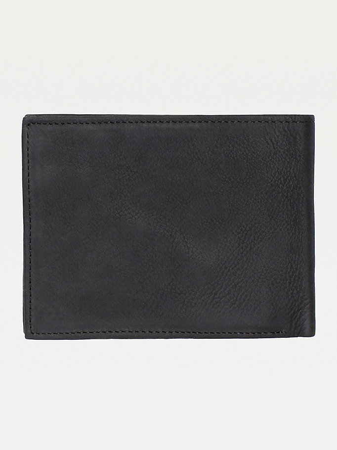 TOMMY HILFIGER Leather Trifold Wallet - BROWN - TOMMY HILFIGER Men - detail image 1