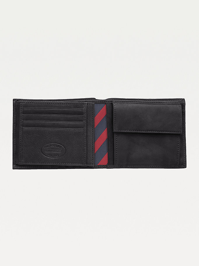 TOMMY HILFIGER Leather Trifold Wallet - BROWN - TOMMY HILFIGER Men - detail image 2