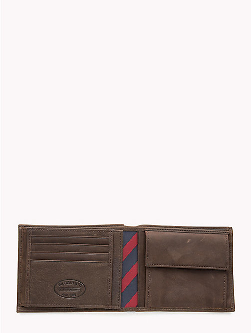 TOMMY HILFIGER Leather Trifold Wallet - BROWN - TOMMY HILFIGER Wallets & Keyrings - detail image 1