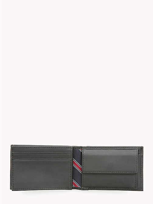 TOMMY HILFIGER Small Sleek Leather Wallet - BLACK - TOMMY HILFIGER Men - detail image 1
