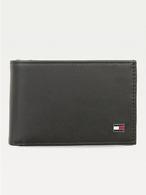 TOMMY HILFIGER Small Sleek Leather Wallet - BLACK - TOMMY HILFIGER Wallets & Keyrings - main image