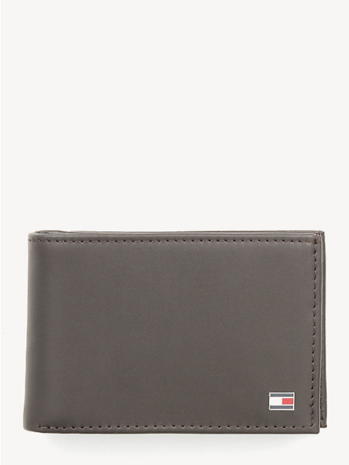 TOMMY HILFIGER Small Sleek Leather Wallet - BROWN - TOMMY HILFIGER Wallets & Keyrings - main image