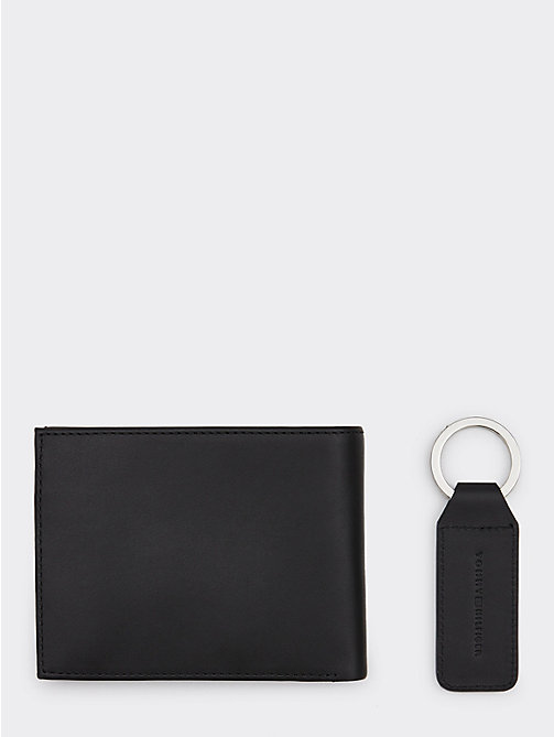 TOMMY HILFIGER Flag Key Fob and Wallet Set - BLACK - TOMMY HILFIGER NEW IN - detail image 1