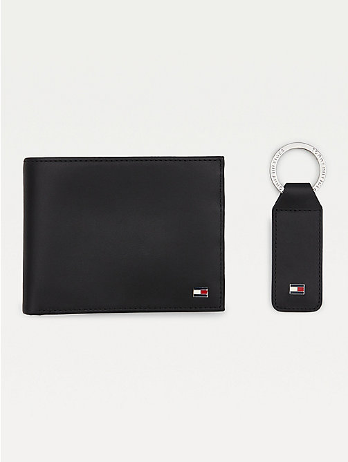 TOMMY HILFIGER Flag Key Fob and Wallet Set - BLACK - TOMMY HILFIGER Bags & Accessories - main image