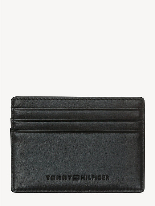TOMMY HILFIGER HARRY CC HOLDER - BLACK - TOMMY HILFIGER Wallets & Keyrings - detail image 1