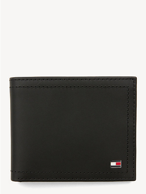 TOMMY HILFIGER Mini Leather Wallet - BLACK - TOMMY HILFIGER Bags & Accessories - main image