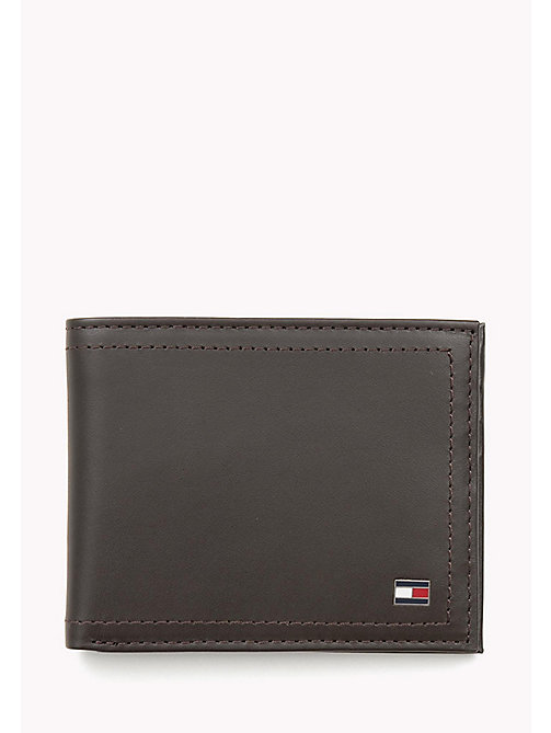 TOMMY HILFIGER Mini Leather Wallet - COFFEEBEAN - TOMMY HILFIGER Wallets & Keyrings - main image