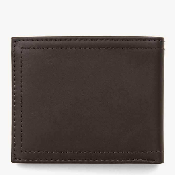 TOMMY HILFIGER Mini Leather Wallet - BLACK - TOMMY HILFIGER Men - detail image 1