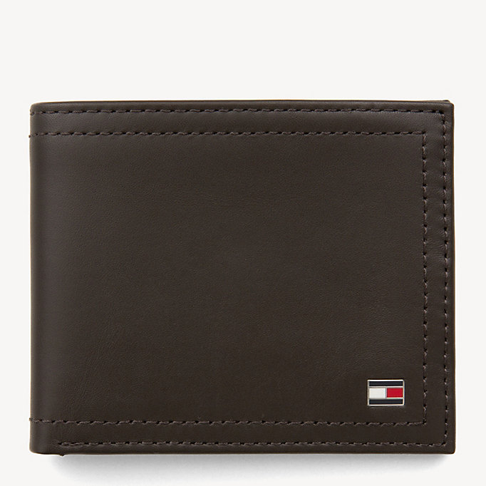 TOMMY HILFIGER Mini Leather Wallet - BLACK - TOMMY HILFIGER Men - main image