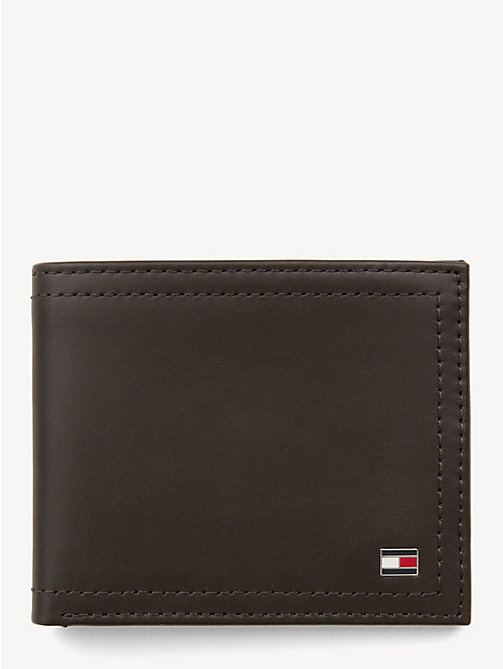 TOMMY HILFIGER Mini Leather Wallet - COFFEE BEAN - TOMMY HILFIGER Wallets & Keyrings - main image