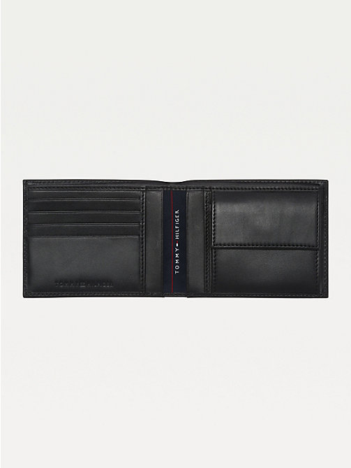 TOMMY HILFIGER Leather Coin Pocket Cardholder - BLACK - TOMMY HILFIGER Wallets & Keyrings - detail image 1