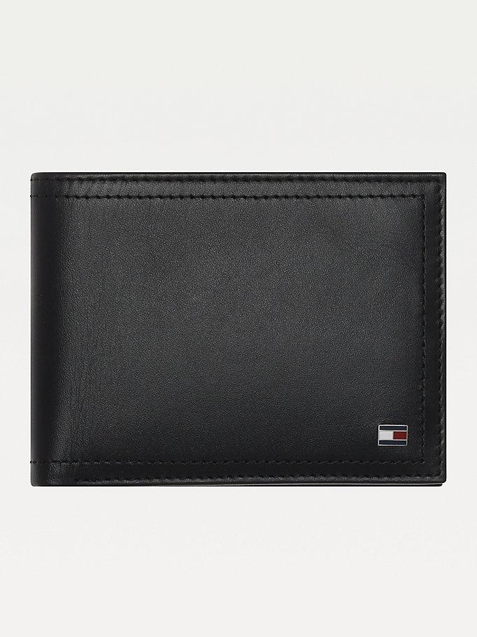 Portatessere in pelle con tasca portamonete | NERO | Tommy