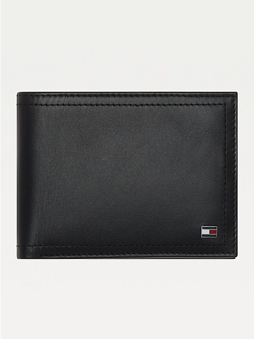 TOMMY HILFIGER Leather Coin Pocket Cardholder - BLACK - TOMMY HILFIGER Wallets & Keyrings - main image