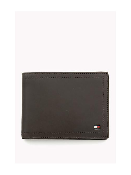 TOMMY HILFIGER Leather Wallet - COFFEE BEAN - TOMMY HILFIGER Wallets & Keyrings - main image
