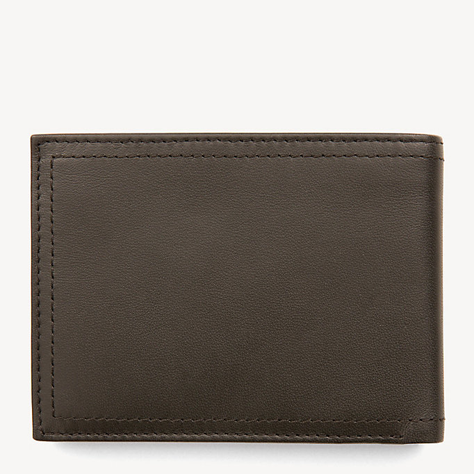 TOMMY HILFIGER Harry Leather Coin Pocket Cardholder - BLACK - TOMMY HILFIGER Men - detail image 1