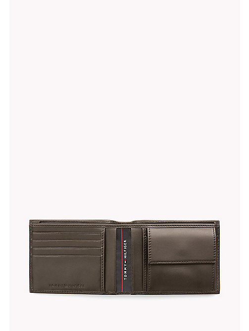 TOMMY HILFIGER Leather Coin Pocket Cardholder - COFFEE BEAN - TOMMY HILFIGER Wallets & Keyrings - detail image 1