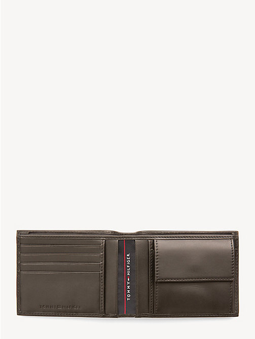 TOMMY HILFIGER Leather Coin Pocket Cardholder - COFFEE BEAN - TOMMY HILFIGER Bags & Accessories - detail image 1