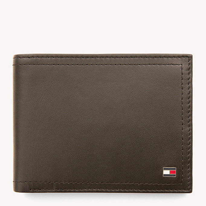 TOMMY HILFIGER Harry Leather Coin Pocket Cardholder - BLACK - TOMMY HILFIGER Men - main image