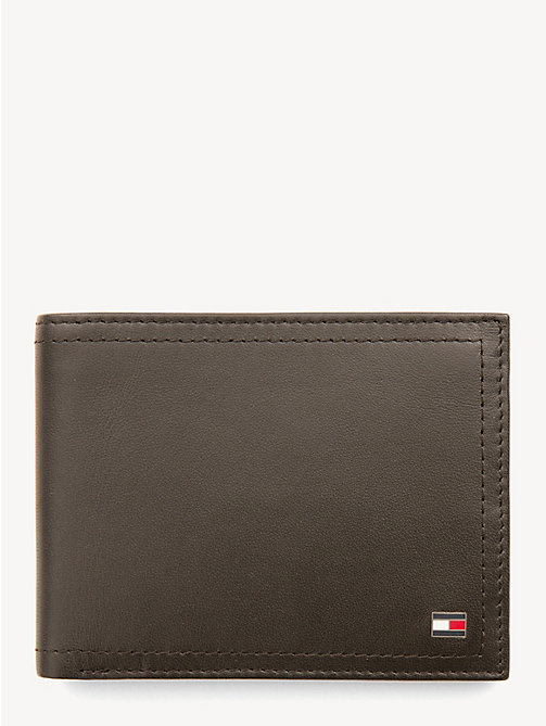 TOMMY HILFIGER Leather Coin Pocket Cardholder - COFFEE BEAN - TOMMY HILFIGER Wallets & Keyrings - main image