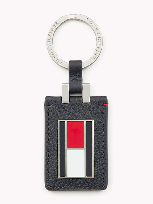 TOMMY HILFIGER Flag Leather Key Fob - CORPORATE - TOMMY HILFIGER Wallets & Keyrings - main image