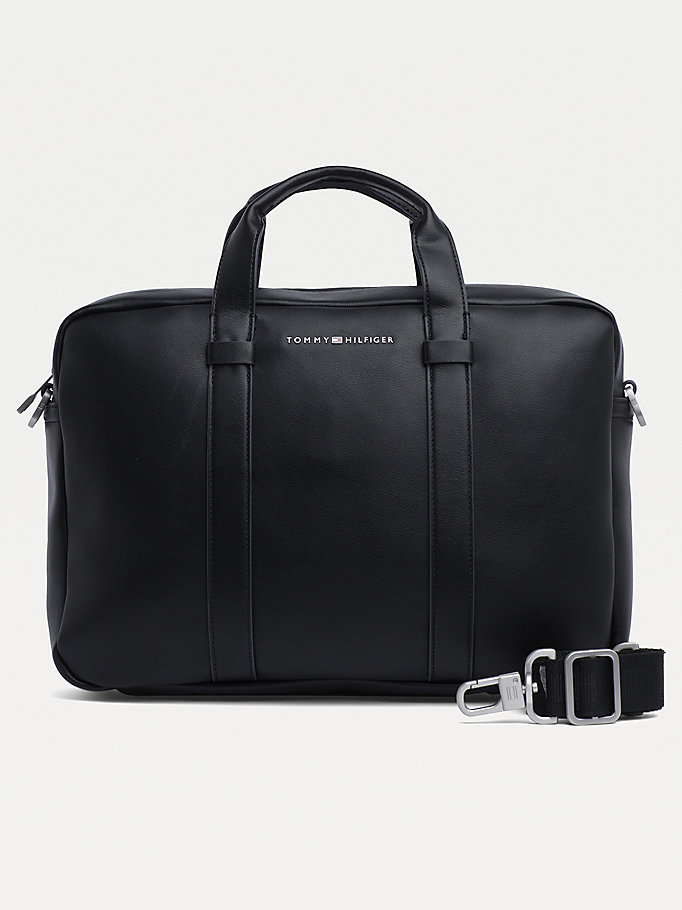 black th city computer bag for men tommy hilfiger