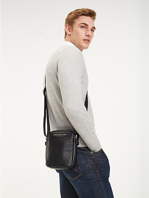 TOMMY HILFIGER TH City Small Reporter Bag - BLACK - TOMMY HILFIGER Crossbody Bags - detail image 1