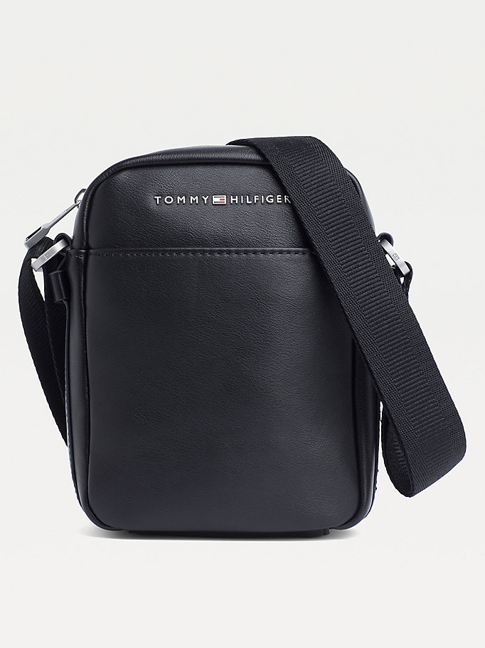 black th city small reporter bag for men tommy hilfiger