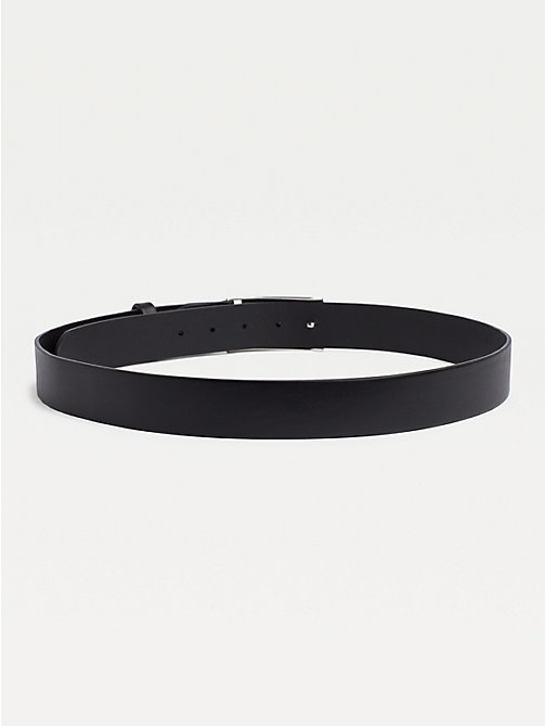 TOMMY HILFIGER Adjustable Logo Plaque Belt - BLACK - TOMMY HILFIGER Belts - detail image 1