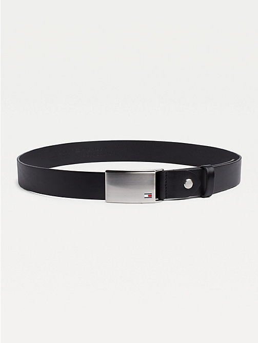 TOMMY HILFIGER Adjustable Logo Plaque Belt - BLACK - TOMMY HILFIGER Belts - main image