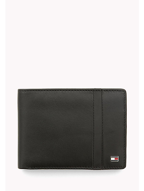 TOMMY HILFIGER Striped Leather Wallet - BLACK - TOMMY HILFIGER Bags & Accessories - main image