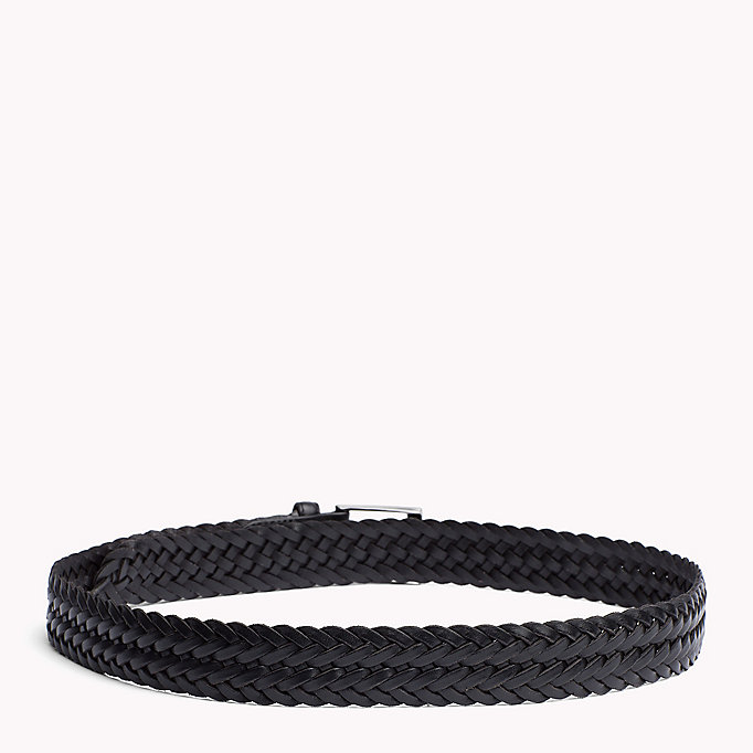 TOMMY HILFIGER Braided Leather Belt - TESTA DI MORO - TOMMY HILFIGER Men - detail image 1