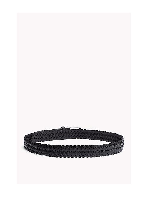 TOMMY HILFIGER Braided Leather Belt - BLACK - TOMMY HILFIGER Bags & Accessories - detail image 1