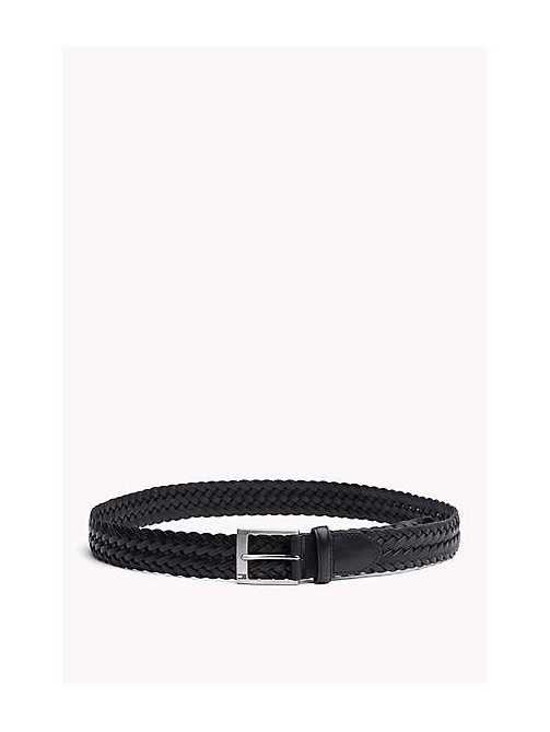 TOMMY HILFIGER Braided Leather Belt - BLACK - TOMMY HILFIGER Bags & Accessories - main image