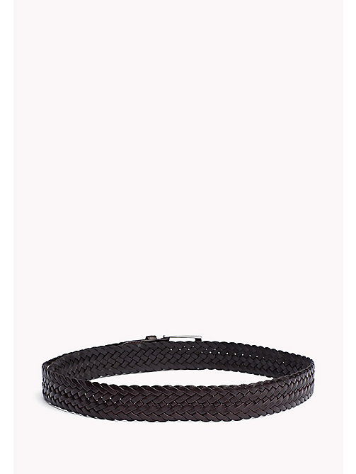 TOMMY HILFIGER Braided Leather Belt - TESTA DI MORO - TOMMY HILFIGER Bags & Accessories - detail image 1