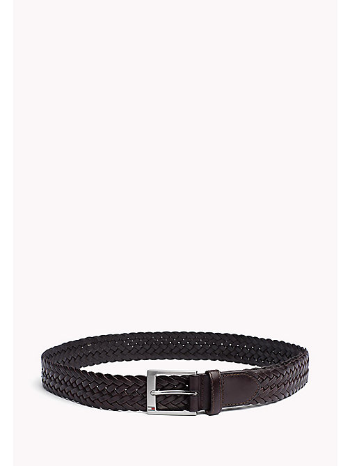 TOMMY HILFIGER Braided Leather Belt - TESTA DI MORO - TOMMY HILFIGER Bags & Accessories - main image