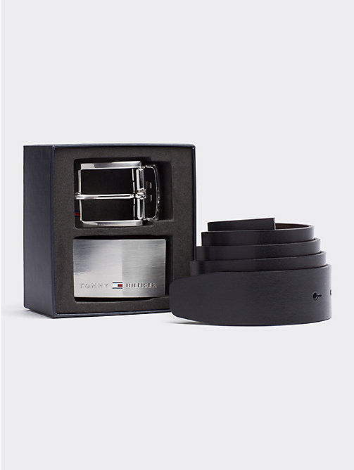TOMMY HILFIGER Two Buckle Belt Gift Box - BLACK/TESTA DI MORO - TOMMY HILFIGER Belts - main image