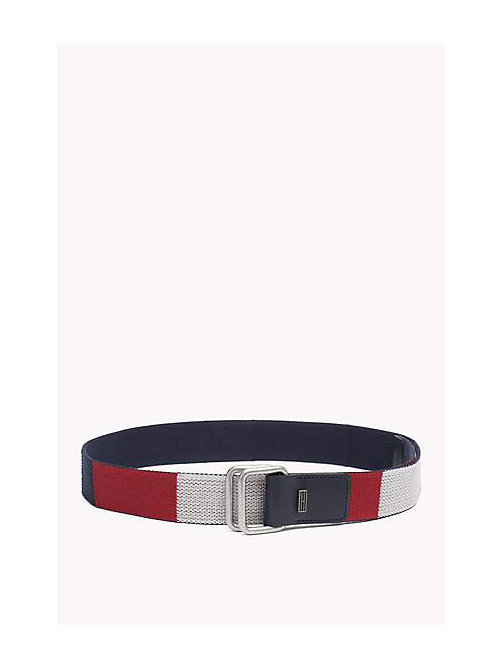 TOMMY JEANS Block Webbing Canvas Belt - RWB - TOMMY JEANS Bags & Accessories - main image