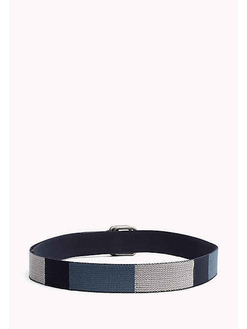 TOMMY JEANS Block Webbing Canvas Belt - BLUE MIX - TOMMY JEANS Bags & Accessories - detail image 1