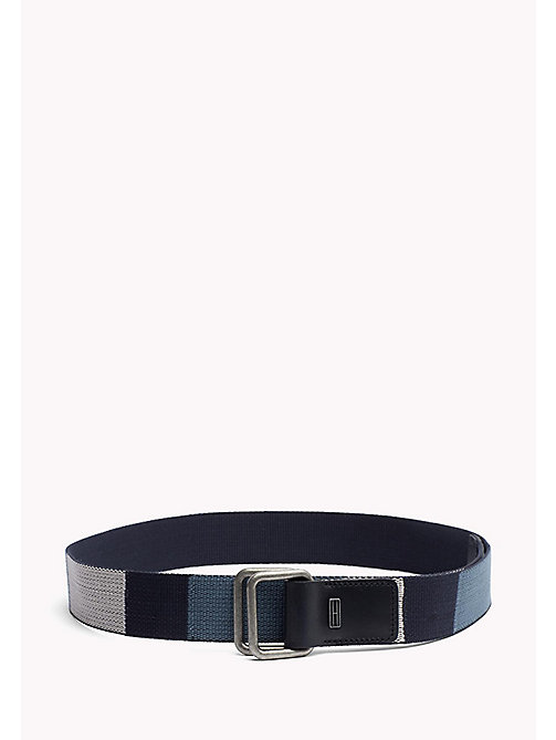 TOMMY JEANS Block Webbing Canvas Belt - BLUE MIX - TOMMY JEANS Bags & Accessories - main image