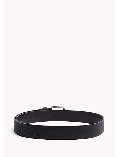 TOMMY JEANS Embossed Leather Belt - BLACK - TOMMY JEANS Bags & Accessories - detail image 1