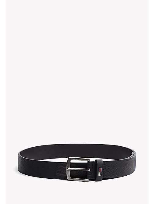 TOMMY JEANS Embossed Leather Belt - BLACK - TOMMY JEANS Bags & Accessories - main image