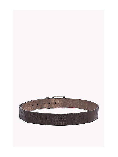 TOMMY JEANS Embossed Leather Belt - TESTA DI MORO - TOMMY JEANS Bags & Accessories - detail image 1