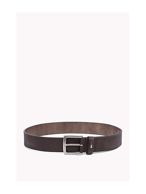 TOMMY JEANS Embossed Leather Belt - TESTA DI MORO - TOMMY JEANS Bags & Accessories - main image