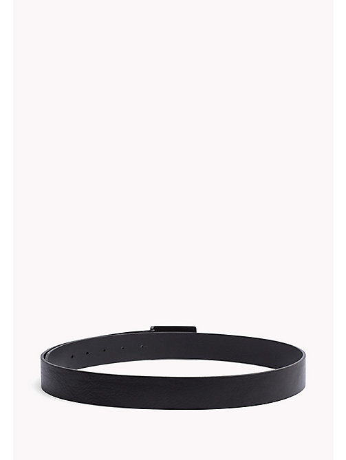TOMMY HILFIGER Plaque Buckle Leather Belt - BLACK - TOMMY HILFIGER Bags & Accessories - detail image 1