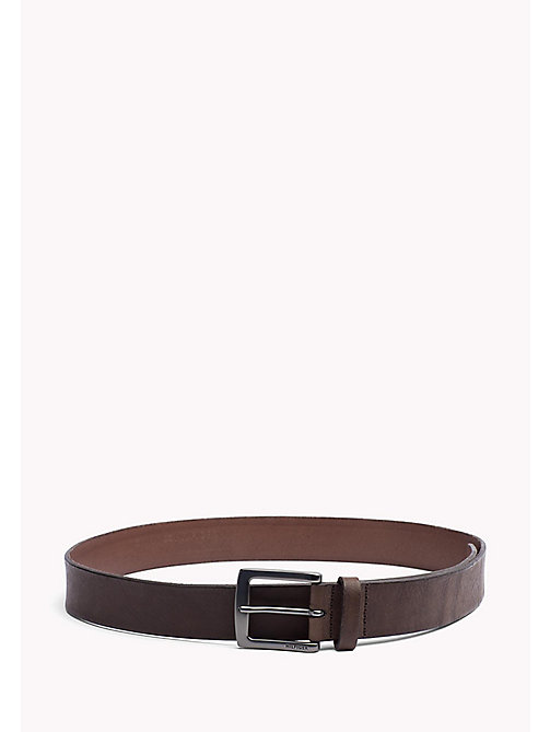 TOMMY HILFIGER Leather Belt - TESTA DI MORO - TOMMY HILFIGER Bags & Accessories - main image