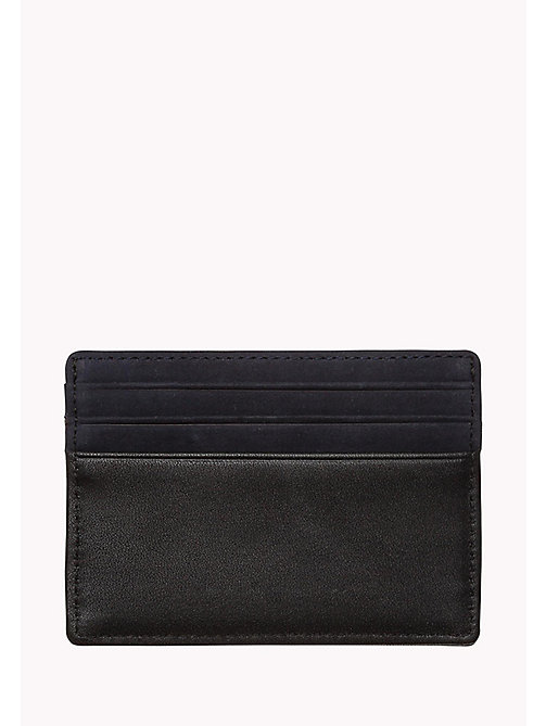 TOMMY HILFIGER Leather Cardholder - TOMMY NAVY / BLACK - TOMMY HILFIGER Bags & Accessories - detail image 1